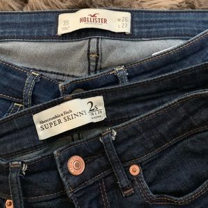 Abercrombie skinny and hollister skinny pants!